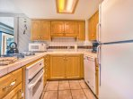 Fully Equipped Kitchen with 4-Burner Gas Range