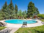 Seasonal Communal Pool and Hot Tub Just Outside the Home