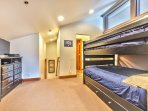 Bedroom 3 with a Full over Full Bunk Bed and a Twin Trundle, 40' HD TV/DVD and access to Full Bathroom