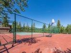 Tennis Courts Above the Community Underground Garage