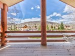 Amazing Views of Deer Valley from Deck off of the Living Room with Seating for 4