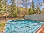 6-Seat Private Hot Tub on Deck off the Kitchen