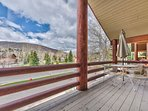 Private Deck off the Main Level Living Room