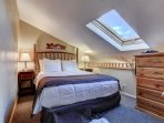Upstairs loft with Queen Bed and TV