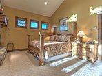 Master Bedroom Upper Level  with King Bed, Twin Bed, Fireplace and Private Bath