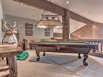 Upper Level Loft with Pool Table