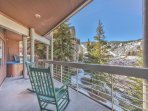 Private Deck with Seating, Hot Tub and Fabulous Views