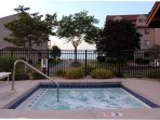 Hot tub with Lake Erie views and breezes!