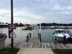 HarborSide marina on Portage River on condo property within short walking distance.