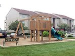 Playground next to pool area.