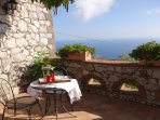 Balcony outdoor double bedroom relax point with sea view at villa esposito located in santa agata