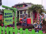 Art District, an area of colorful homes with local art for sale