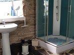 Bathroom - Ground Floor - Shower, Toilet & Basin.  Towels supplied.