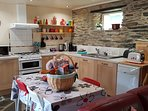Kitchen - Toaster & Kettle. Table seats 4.  High Chair is also available.
