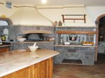 Villa sorrento coastline kitchen fully equipped with barbecue and pizza oven vacation amalfi coast