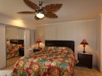 Master Bedroom with AC, ceiling fan, super comfy California King bed