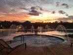 Sunset over the Children's Splash Pool