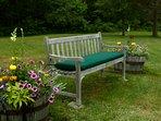 Bench on Backyard Knoll