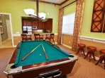 club house pool table