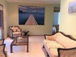 The lounge room area.