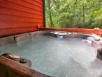 The hot tub is the perfect place for loosening up after a long day on the trails.
