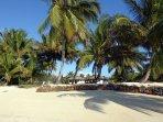 La plage devant la villa pour vous détendre