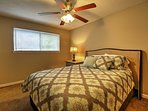 The last bedroom plays host to a cozy full bed!