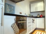 Kitchen contains all you needs, eg. Oven, dishwasher, toaster, kettle, kitchenware.
