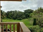 Open field view from apartment door