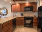 Fully equipped kitchen with all the conveniences of home