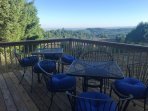 Deck with view of the Willamette Valley