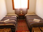 Photo of the two single beds