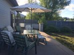 Patio seating for 6 overlooks the San Francisco peaks and surrounding hills.