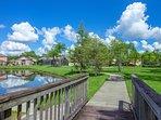 Seasons community, Kissimmee, Florida - peaceful community.  However still close to all the action.  Disney, Orlando...