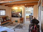 Large foyer with space to get away, relax, read, visit