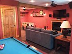 Create Memories while playing pool or fusball downstairs in a beautifully decorated game room.