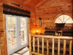 French doors leading to the Hot tub and Grill