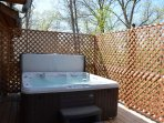Private Hot tub available every day throughout the year.