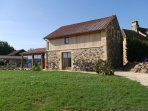 Large private garden and car park area for Le Noyer