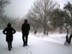 Un día de nieve en invierno.
