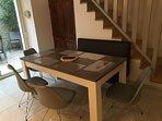 la table pour 8 avec rallonge