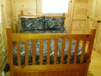 Full size bed in bedroom sleeps 2 adults