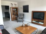 Lounge with flat screen TV with DVD player