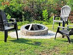 Enjoy gathering around the fire pit as you stargaze.