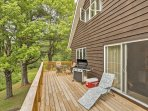 Spend your trip lounging and enjoying afternoon barbecues on the home's extensive deck.