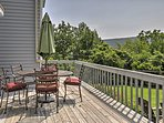 Step to the back deck, fire up the barbecue grill and dine al fresco at the shaded outdoor table.