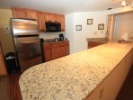 Granite counters in the new kitchen