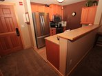 New stainless appliances in kitchen