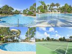 Fabulous pool & tennis courts
