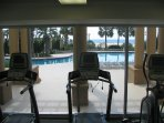 Gulf view from the fitness center.